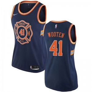 Nike New York Knicks Authentic Navy Blue Kenny Wooten Jersey - City Edition - Women's
