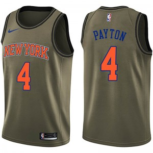 Nike New York Knicks Swingman Green Elfrid Payton Salute to Service Jersey - Men's